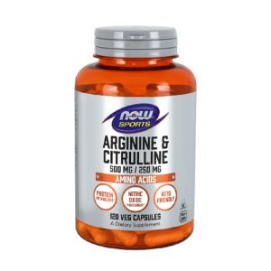 Now Arginine – Citrulline 120 kaps.