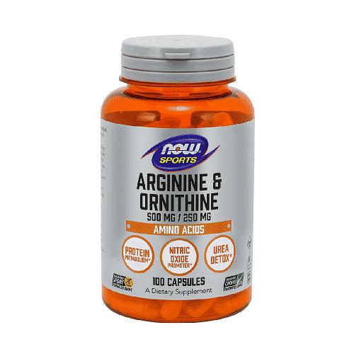Now Arginine – Ornithine 100 kaps.