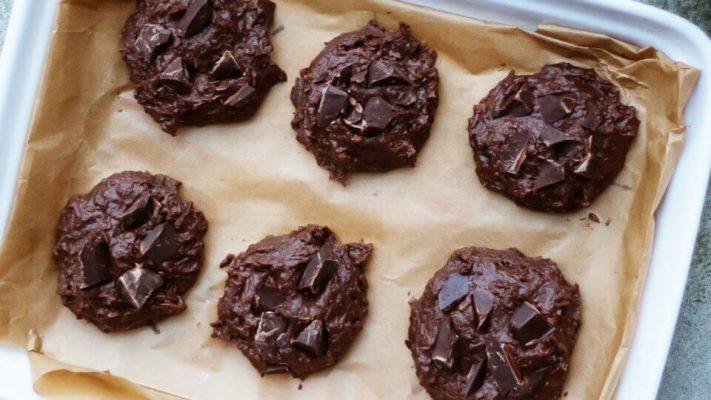 Šokoladiniai avinžirnių sausainiai