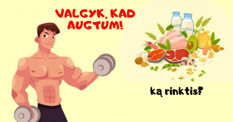 maistas raumenu auginimui